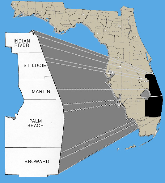 Map Of Southeast Florida Beaches.District 4 Southeast Florida Commuter Services