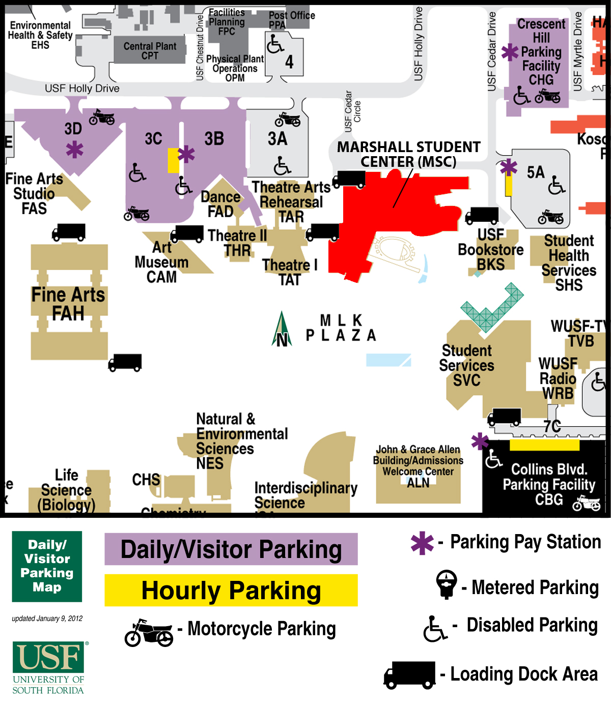 Florida Commuter Choice Summit  Southeast TDM Symposium - Usf location map