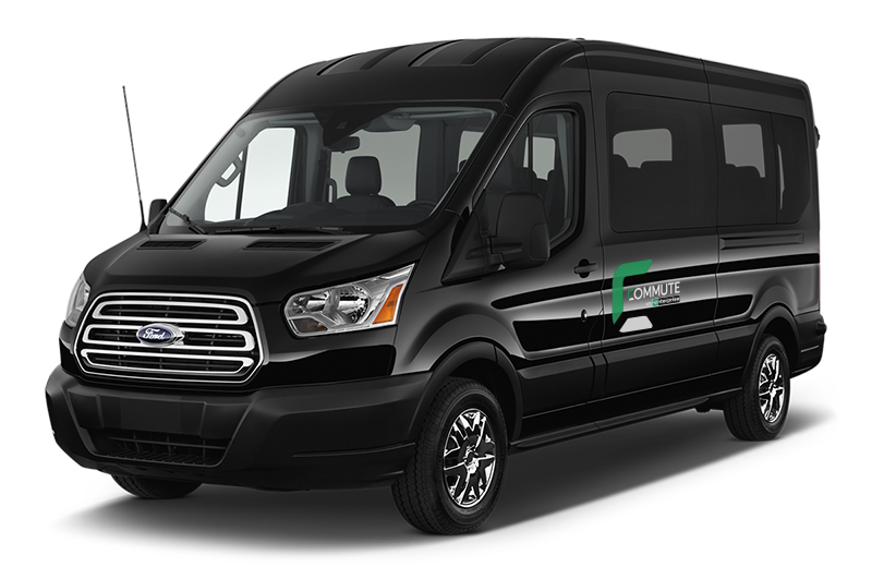 Photo of Ford Transit configurable as 8, 10, 12 or 15 passenger vanpool vehicle
